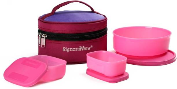 d3f20bcfec6 Signoraware Classic Lunch (Sappire) with Bag 3 Containers Lunch Box