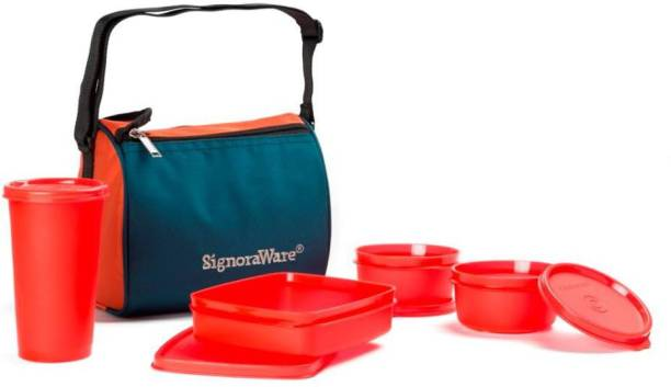 Signoraware Best Sapphire 4 Containers Lunch Box