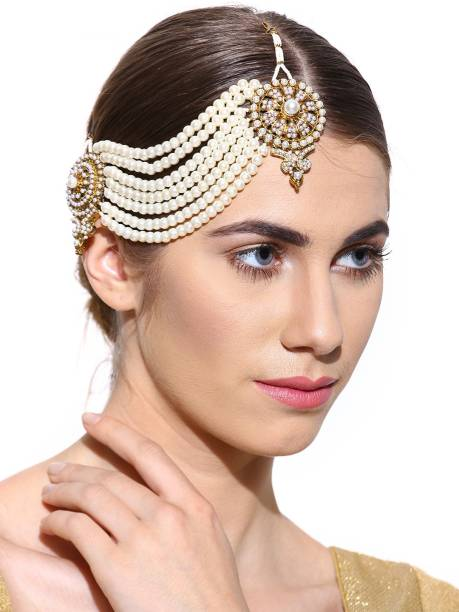 Zaveri Pearls Modern Look Side Pa Zinc Matha Patti