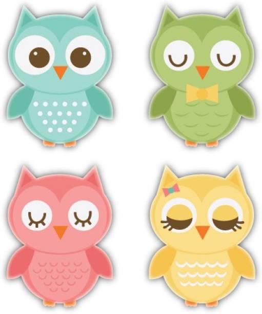 Nourish Owl Family Fridge Magnet Pack of 4