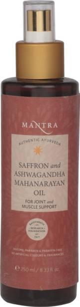 MANTRA Saffron and Ashwagandha Mahanarayan Oil for Joint and Muscle Support