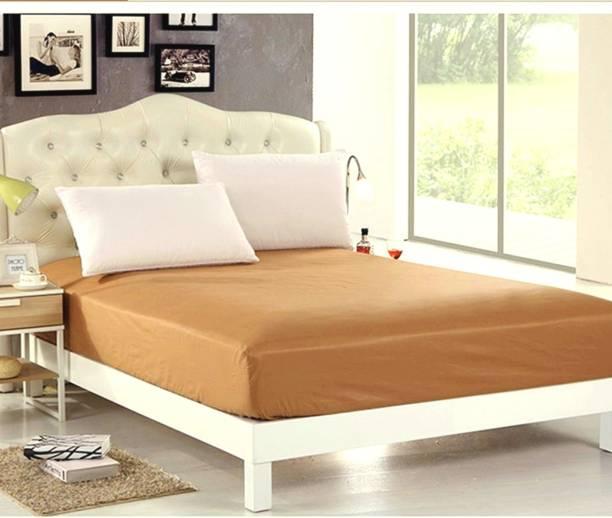 Sleep Matic Waterproof 75 X72 Cotton Ed King Size Mattress Protector Beige Brown