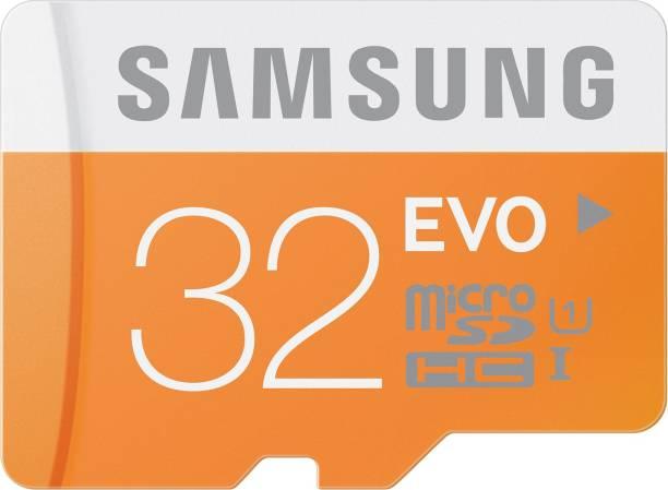 SAMSUNG Evo 32 GB MicroSDHC Class 10 48 MB/s  Memory Card