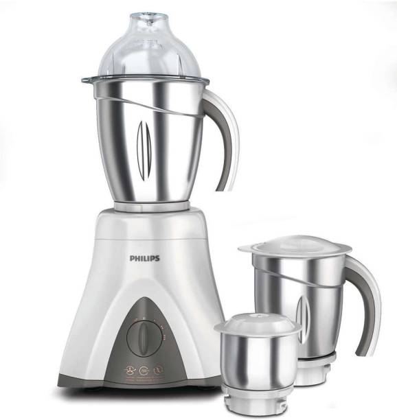 PHILIPS Viva Collection HL7750/00 650 W Mixer Grinder (3 Jars, Ink Black And Bright White)