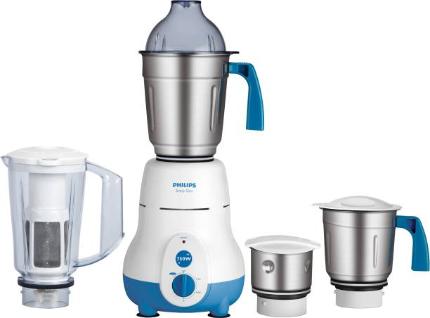 PHILIPS HL1643/06 600 W Juicer Mixer Grinder (4 Jars, Blue)