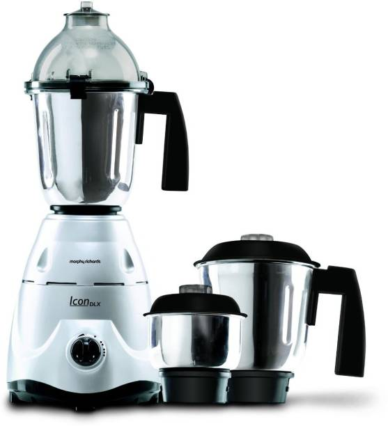 Morphy Richards Icon Deluxe 750 W Mixer Grinder (3 Jars, Silver)
