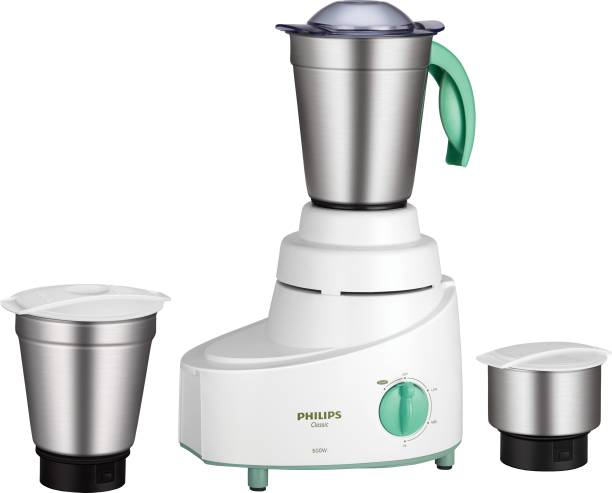 PHILIPS HL1606/03 500 W Mixer Grinder (3 Jars, Green)