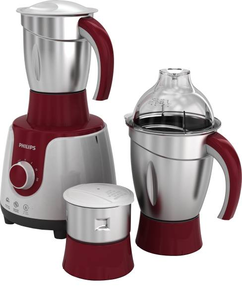 PHILIPS HL7710 /00 600 W Mixer Grinder (3 Jars, Red, White)