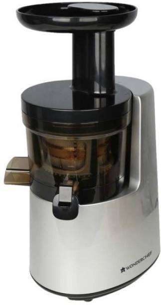 WONDERCHEF COLD PRESS Cold Press Juicer - V6 200 W Juicer (2 Jars, Silver, Black)