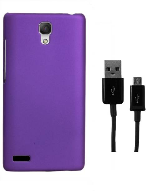 RDcase Back Cover and Data Cable For Micromax Canvas Xpress 2 E313 Accessory Combo