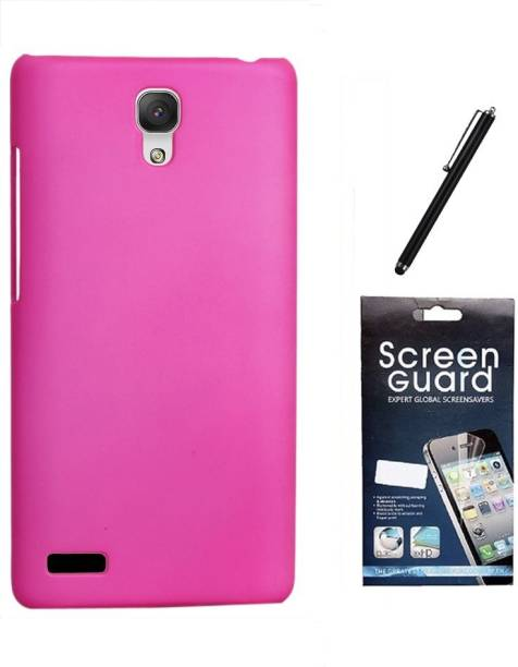 RDcase Back Cover, Screen Protector and Stylus Pen For Micromax Canvas Xpress 2 E313 Accessory Combo