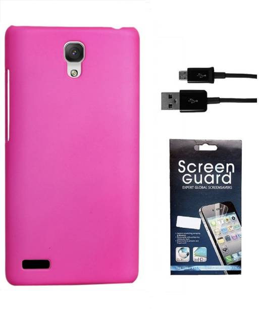 RDcase Back Cover, Screen Protector and Data Cable For Micromax Canvas Xpress 2 E313 Accessory Combo