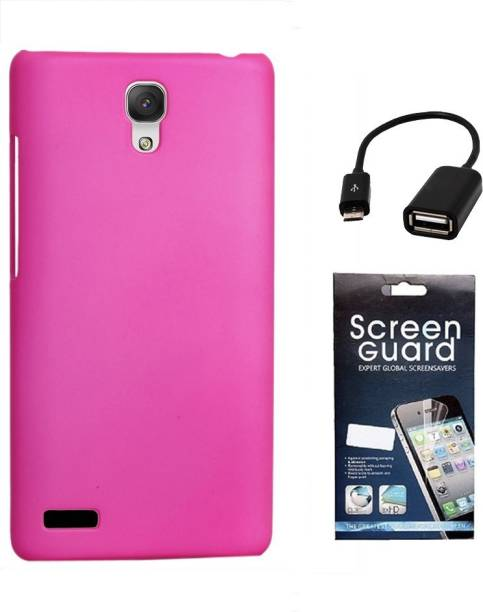 RDcase Back Cover, Screen Protector and OTG Cable For Micromax Canvas Xpress 2 E313 Accessory Combo