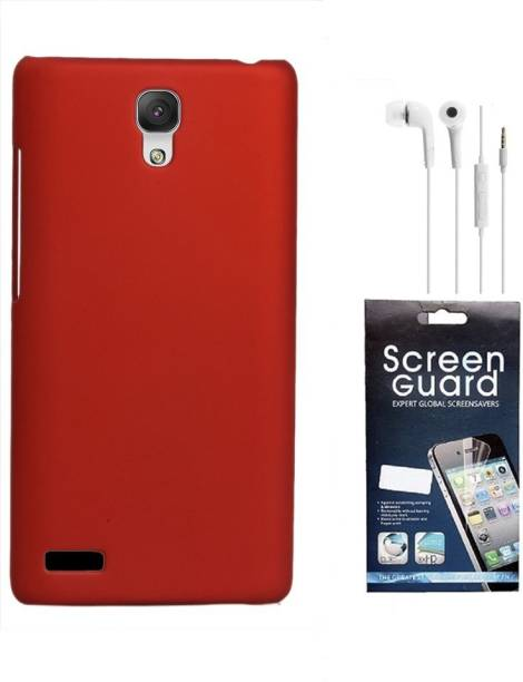 RDcase Back Cover, Screen Protector and Hands Free For Micromax Canvas Xpress 2 E313 Accessory Combo
