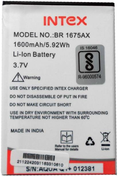 Intex Mobile Battery - Buy Intex Mobile Battery Online at Best
