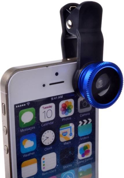 CheckSums 11019 3 in 1 Mobile Phone Camera Lens Kit with Clip on for Party, Travel & Group Photos- Blue Mobile Phone Lens