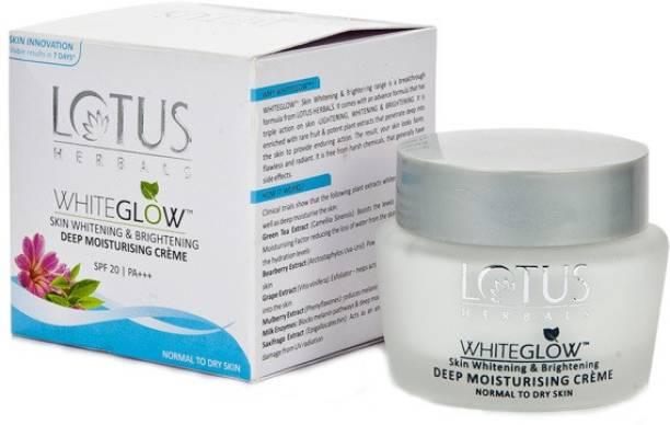 LOTUS Herbals Whiteglow Deep Moisturising Crème SPF20(60 g)