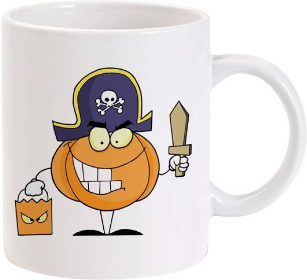 Lolprint Pumpkin Pirate Ceramic Coffee Mug