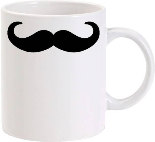 Lolprint Simple Moustache Ceramic Coffee Mug