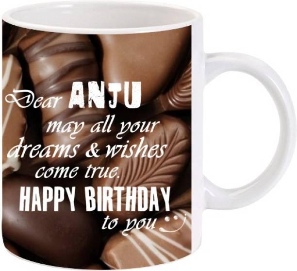 Lolprint Happy Birthday Anju Ceramic Coffee Mug