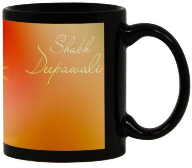 Lolprint 48 Diwali Gift Black Ceramic Coffee Mug