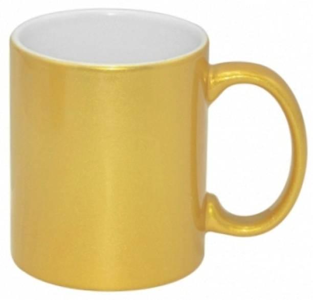 Lolprint 1 Golden Ceramic Coffee Mug