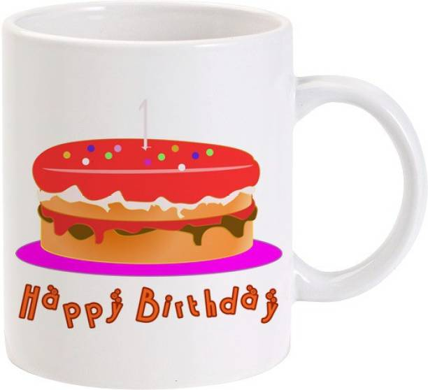 Lolprint Cake Happy Birthday Ceramic Coffee Mug