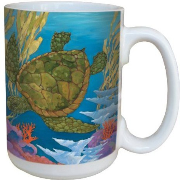Tree-Free Greetings lm43624 Sweet Hummingbirds and Lilies by Shell Rummel Ceramic Mug with Full-Sized Handle 15-Ounce Multicolored Tree Free
