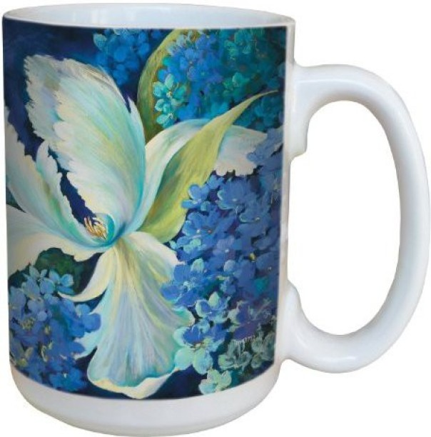 15-Ounce Tree-Free Greetings lm43531 Fun Little Fishes by Carolyn Gavin Ceramic Mug with Full-Sized Handle