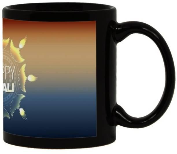 Lolprint 26 Diwali Gift Black Ceramic Coffee Mug