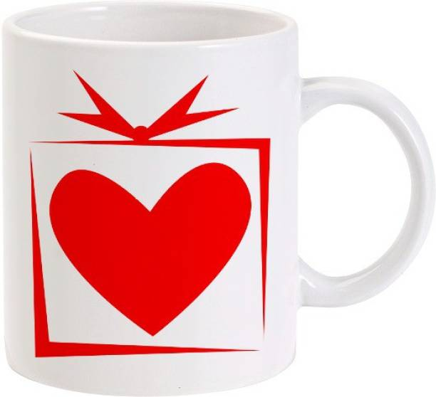 Lolprint Heart Gift Box Ceramic Coffee Mug