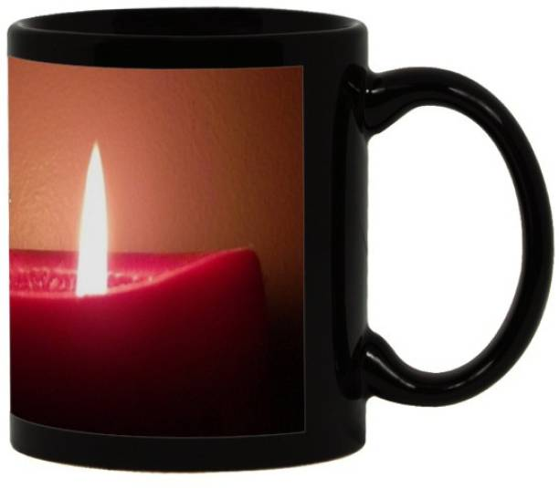 Lolprint 93 Diwali Gift Black Ceramic Coffee Mug