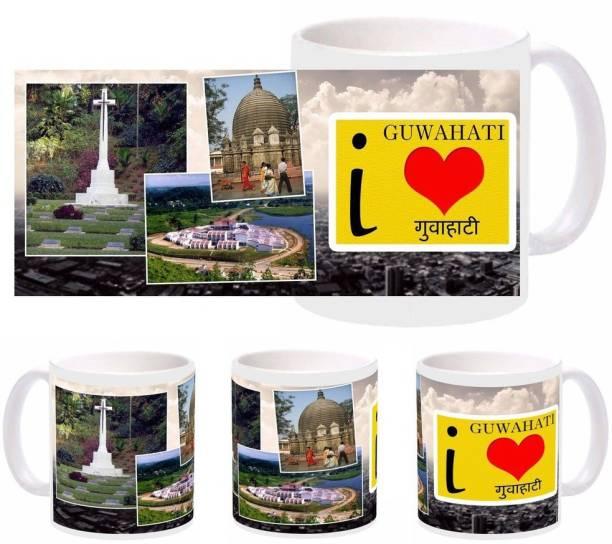 SnapGalaxy I Love Guwahati Ceramic Coffee Mug