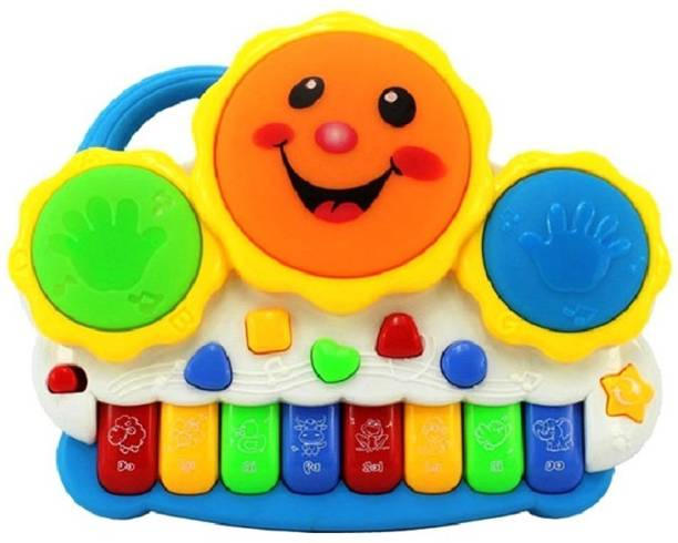 Gift World Drum Keyboard Musical Toys With Flashing Lights