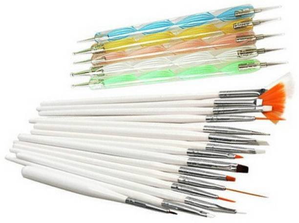 Jay Hari 20pcs Nail Art Design Dotting Painting Drawing UV Polish Brush Pen Tools Set Kit