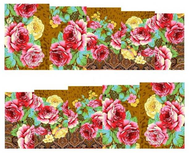SENECIO™ Rose Flower Full Wraps Nail Art Manicure Decals Water Transfer Stickers 1 Sheet