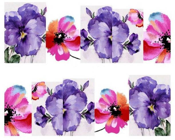 SENECIO™ Purple 3D Oil Printing French Nail Art Manicure Decals Water Transfer Stickers 1 Sheet
