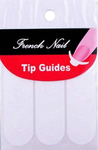 SENECIO™ DIY French Tip Guide Manicure Nail Art Decorations Round Form Fringe Sticker Stencil Style-1