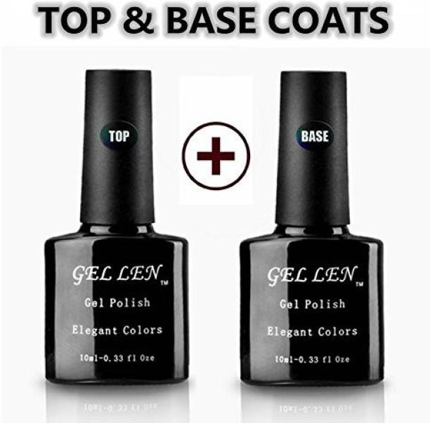 7da328e382a Gellen Natural Uv Top Coat Base Coat Set Each For Soak Off Gel Dark