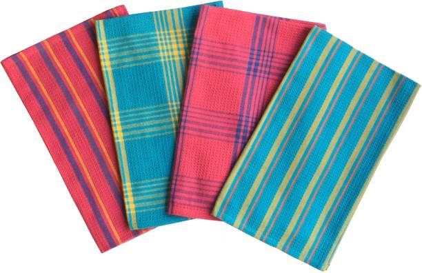 Lushomes Waffle Kitchen Towels Multicolor Napkins