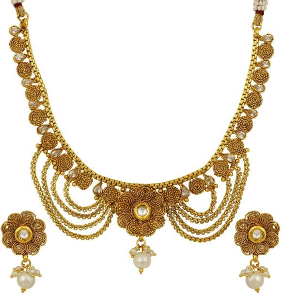 b0ffa40a9c0fe Pearl Necklaces - Buy Pearl Necklaces Online at Best Prices In India ...