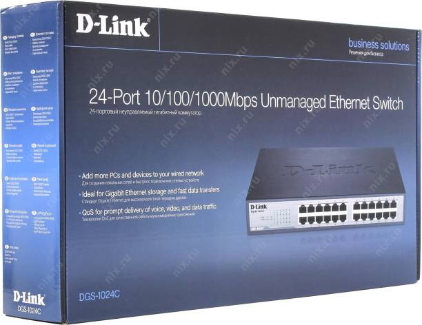 D Link DGS 1024C Network Switch