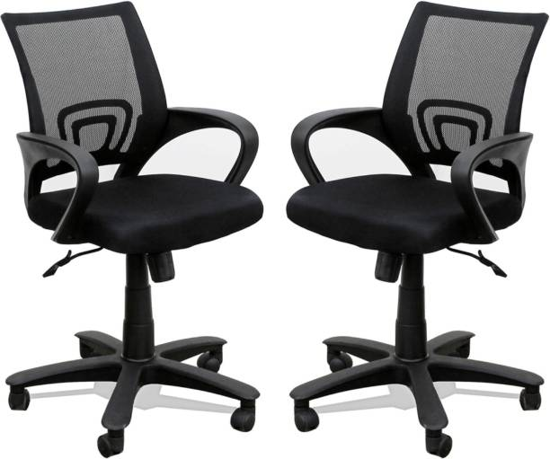 TimberTaste Rocky Fabric Office Arm Chair