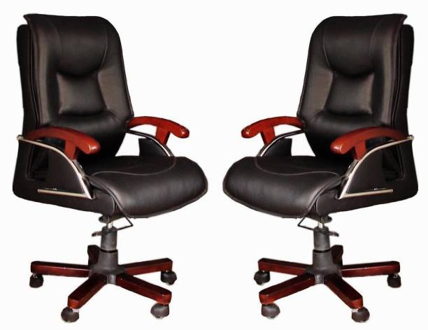 TimberTaste COCO Leatherette Office Arm Chair