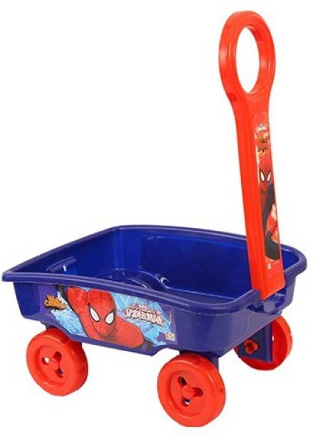 Marvel Spider-Man Toy Wagon for Kids Cart Non Battery Operated Ride On