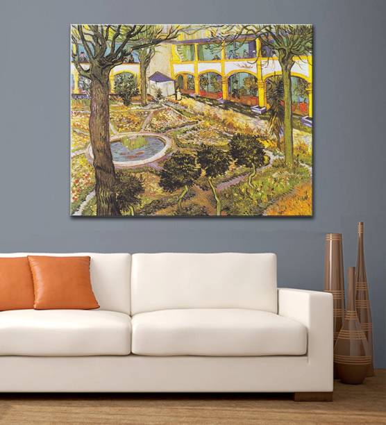 Tallenge Old Masters Collection The Asylum Garden At Arles By Vincent Van Gogh Large