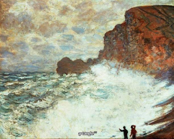 Artangle Claude Monet Stormy Weather At étretat 1883 Art Print Digital Reprint Painting
