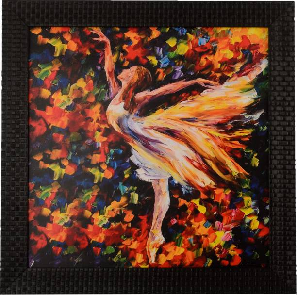 eCraftIndia Flying Angel Satin Matt Texture UV Canvas 12 inch x 12 inch Painting
