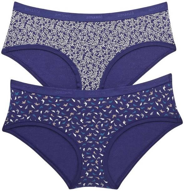 Amante Women Hipster Dark Blue Panty