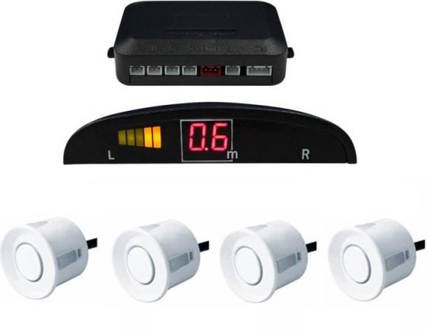 Celix PARKSENS1c63 Car Reverse Parking Sensor with LED Display 200-30cm Range- White Parking Sensor
